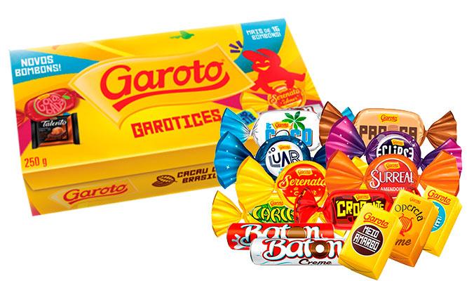 Caja de Chocolates GAROTO 100% Cacao Brasilero ¡Incluye delivery!