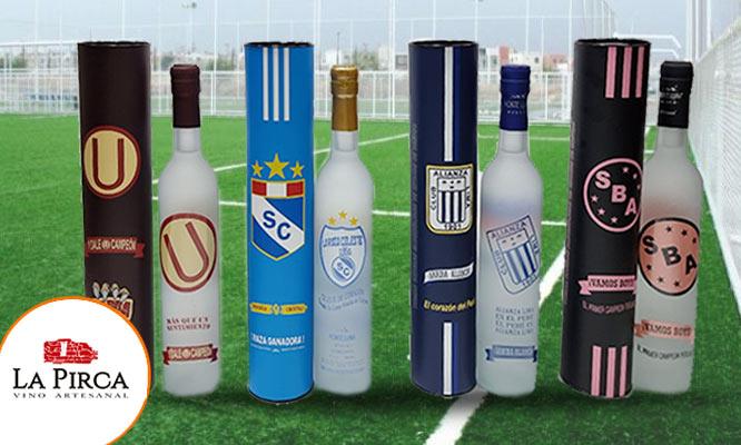 Pisco Quebranta diseño Clubes de Futbol tubular ¡Con delivery en 24hrs!