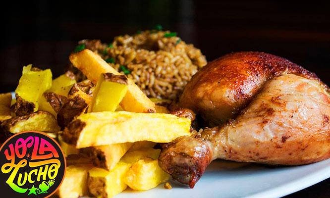1 Pollo a la brasa Chaufa Papas Ensalada Gaseosa de 15Lt para recojo o delivery