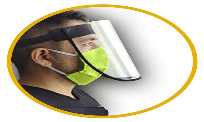 Caja de 12 Protectores faciales con pantalla en PVC de 180 micrones