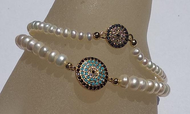 151238f302f9 Pulsera de perlas de río + dije + caja de regalo de Joyería Gilda ...