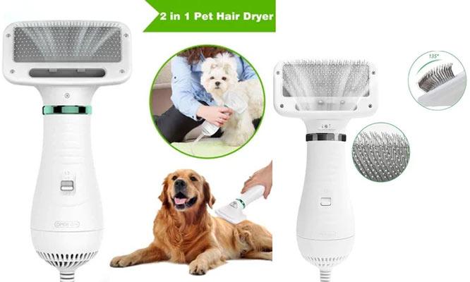 Secadora con peine cepillo para mascotas ¡tus gatos o perros secos mas rapido y sencillo!