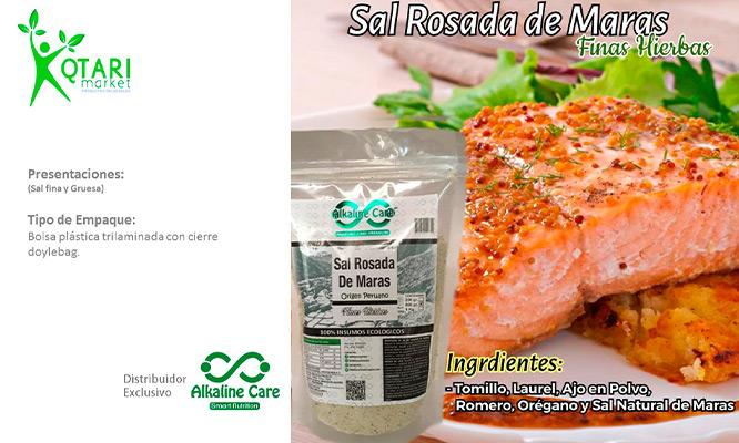 Sal Rosada de Maras con Finas Hierbas ¡Sensacional!