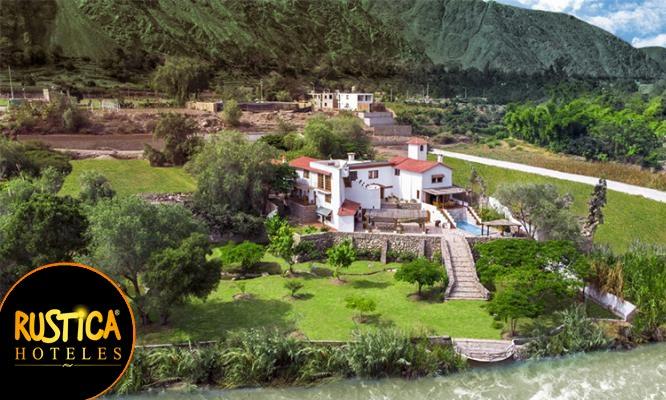 Lunahuana 1 noche para 2 o 3 personas en carpas con vista al rio desayuno