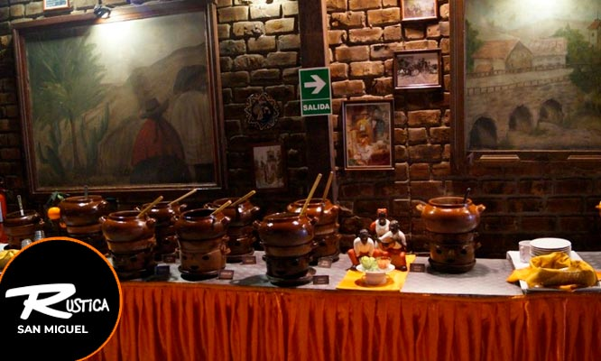 Almuerzo Buffet Criollo en Rustica de San Miguel