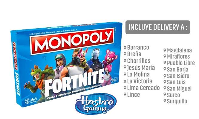 Juego Monopoly FORNITE Hasbro Games® delivery
