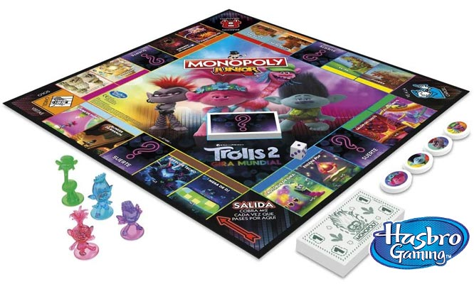 Juego Monopoly Junior DreamWorks Trolls Hasbro Games® delivery