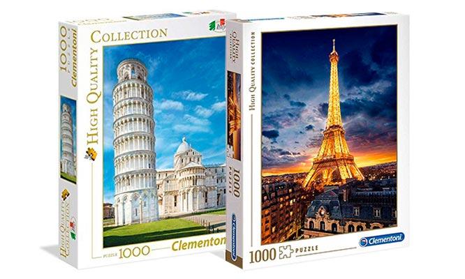 Rompecabezas Clementoni VIAJES de 1000 piezas modelo a elegir delivery