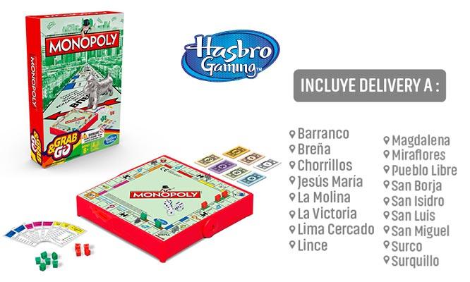 Juego Monopoly - viajes Grab & Go Hasbro Games® delivery
