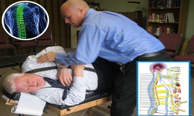 Consulta ajuste quiropractico evaluacion de Rx