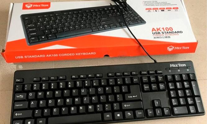 Teclado Meetion AK100 standard Compatible con Windows XP/Vista/7/8/10 MAC OS