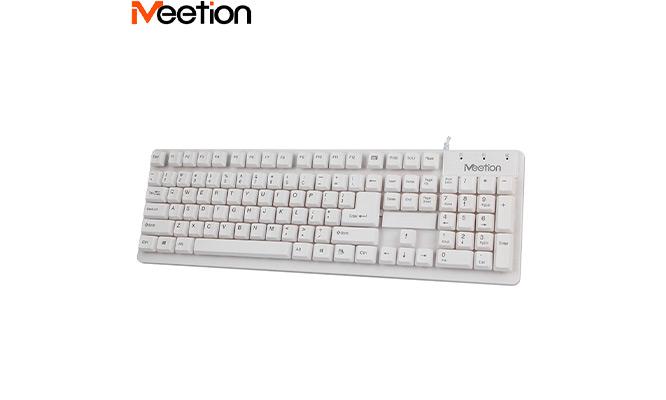 Teclado Meetion K202 color blancoCompatible con Windows XP/Vista/7/8/10 MAC OS