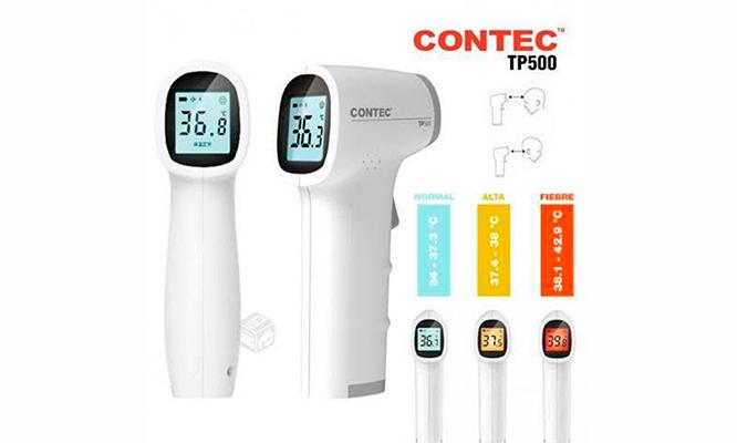 Termómetro infrarrojo Contec TP500 con Certificado y Registro Sanitario |  Cuponidad