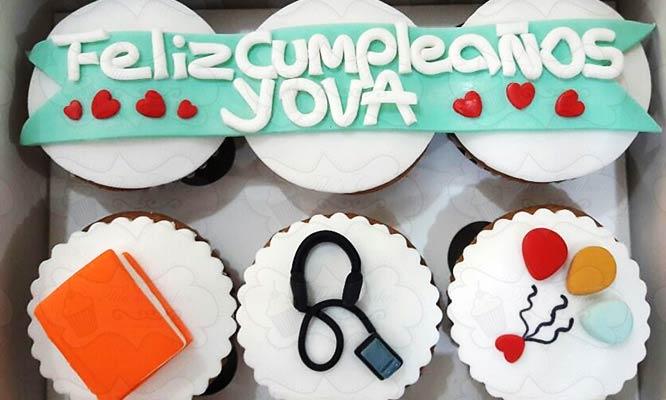 6 cupcakes artesanales rellenos y decoracion personalizada