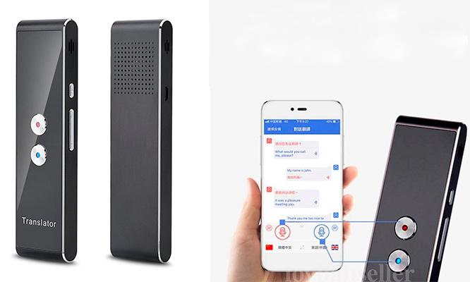 Traductor portatil T8 multilenguaje para transmision de voz en tiempo real