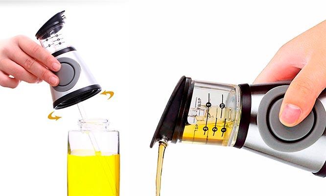Dispensador medidor en vidrio para aceite Y vinagre