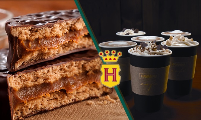 Havanna Cafe latte sandwich mini alfajor segun elijas