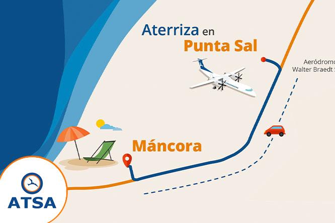 Boleto Aereo ida y vuelta a Punta sal Pieza 15 kg y mas con Atsa Airlines