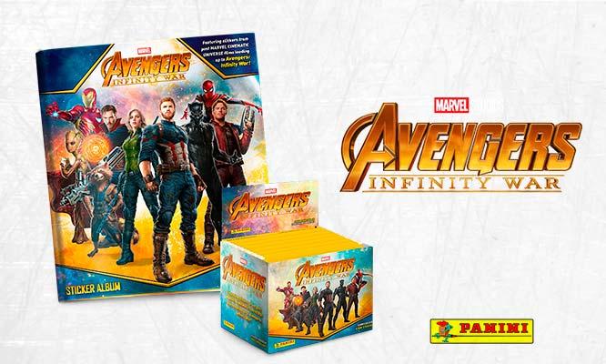 Álbum y paqueton de figuritas Avengers I - Infinity War Delivery