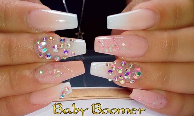 Uñas Baby Boomer pintado de uñas 1 art en una uña en The Beauty Box