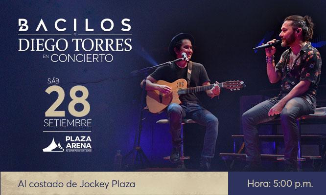 Entrada para concierto de Diego Torres y Bacilos Elige VIP o Platinium 28/09