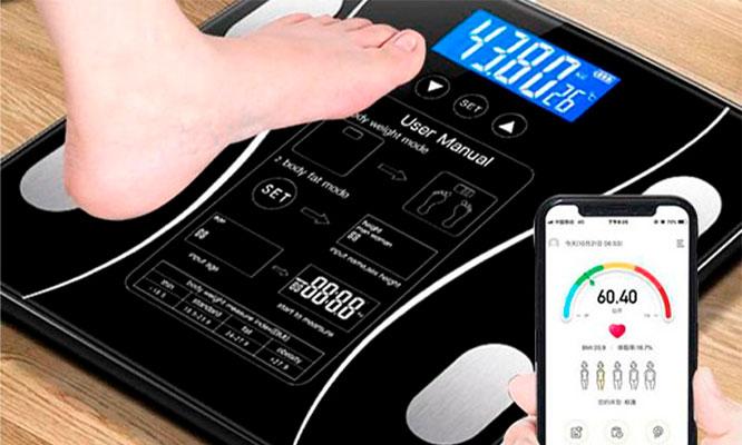 Balanza Digital Inteligente Bluetooth en colores a elegir ¡Con delivery en 24hrs!