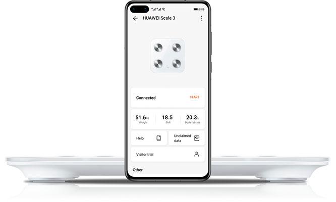 Balanza Huawei body Scale 3 color blanco ¡Delivery en 72 hrs!