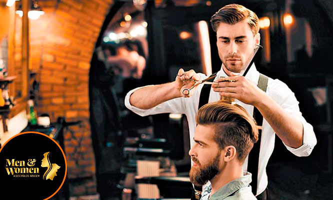 Corte de cabello perfilamiento de barba evaporizacion exfoliacion