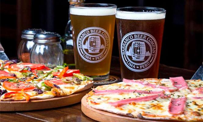 2 o 4 pintas de cerveza artesanal 1 o 2 pizzas medianas a eleccion