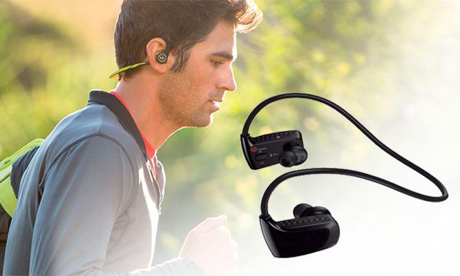 Audifonos Handsfree Bluetooth MOD1 con control de reproduccion a prueba de agua y sudor