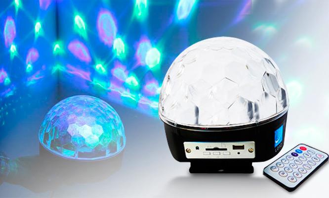Magic Ball con Bluetooth - Esfera ritmica de luz LED control remoto USB