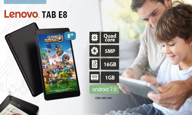 Tablet LENOVO E8 8 Quad Core 1Gb RAM 16Gb DD ANDROID ¡Incluye delivery!