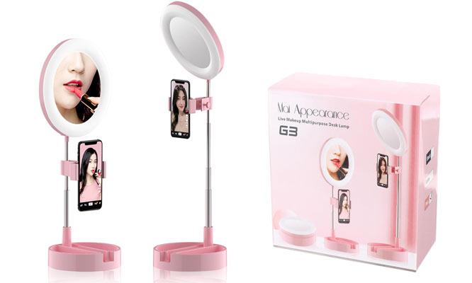 Espejo con Lampara de escritorio multiusos luz LED ¡Incluye delivery!