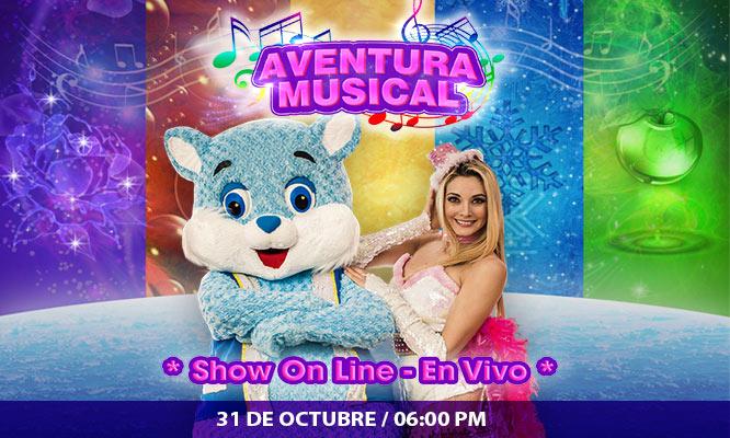 Entrada a show EN VIVO AVENTURA MUSICAL con Brenda Carvalho este 31/10