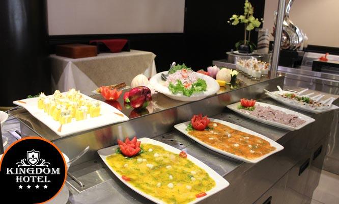 Buffet Internacional almuerzo o cena grupo musical y mas