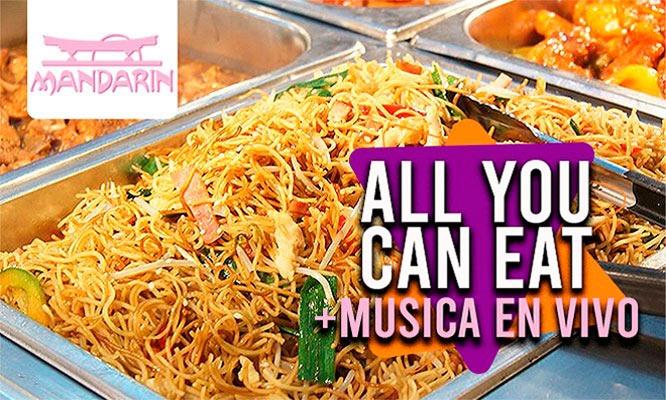 ¡ALL YOU CAN EAT en Restaurant Mandarin! ¡Valido fin de semana!