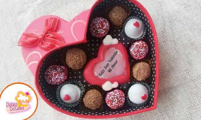 Caja de chocolates de 4 8 o trufas de 11 y 24 unidadescon lindos mensajes de amor