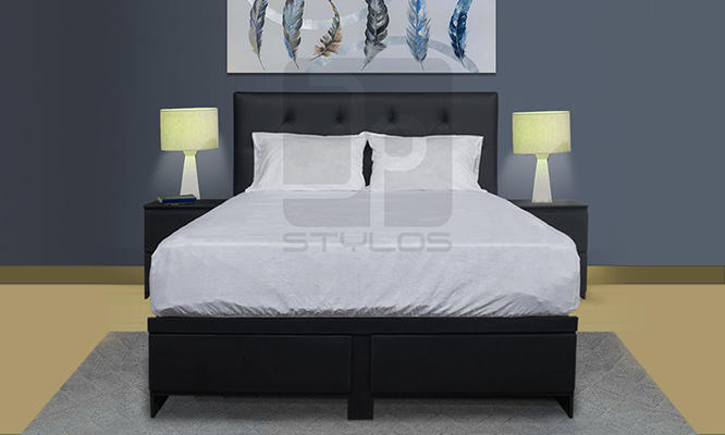 Juego de dormitorio cabecera tapizada 2 sabanera veladores