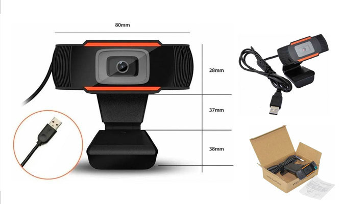 Camara Web giratoria HD  720P USBgrabacion de video ¡Incluye Delivery!