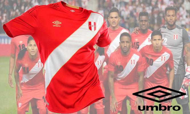 Camiseta Oficial Peru 2018 Umbro ROJA delivery