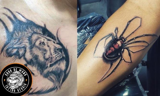 Tatuaje en escala de Grises de 15 x 10 cm de ancho