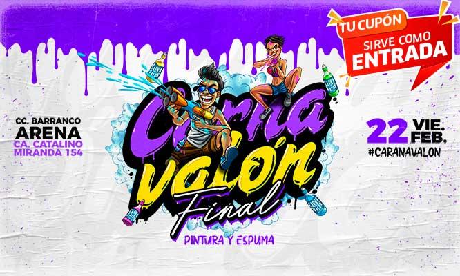 Carnavalon FINAL de Barranco entrada general o VIP - Barranco Arena