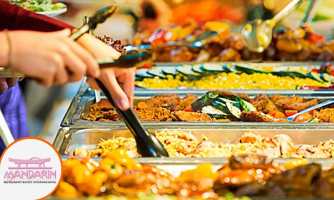 Restaurant Internacional Mandarin Almuerzo buffet de lunes a domingo