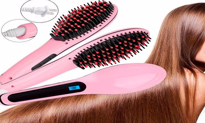 Peine alisador electrico para cabello