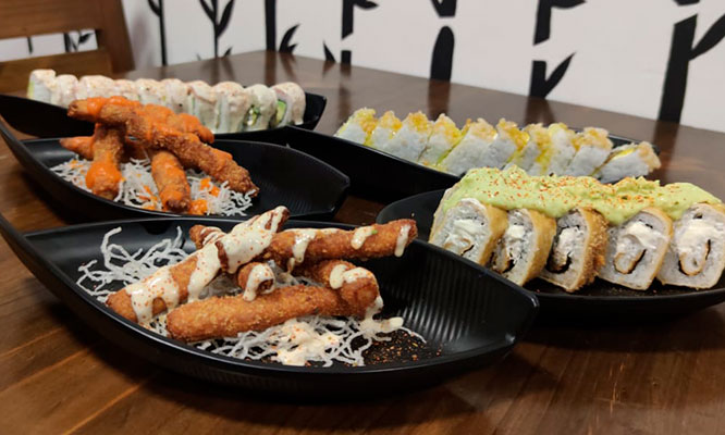 ALL YOU CAN EAT de makis y Chicken fingers bebida 5 Helado tempura en Dragon Rolls