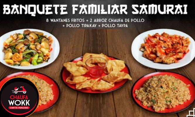 Banquete Familiar Shaolin o Samurai ¡Elige platos agridulce o salado!