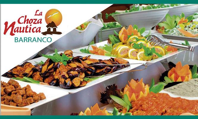 La Choza Nautica Almuerzo buffet marino para una persona de miercoles a domingo