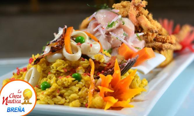 Breña La choza nautica Ronda Chozera para dos 1 cebiche 1 arroz con mariscos y mas