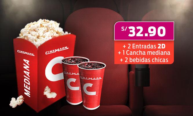 Cinemark 2 Entradas combo en Lima y Provincias