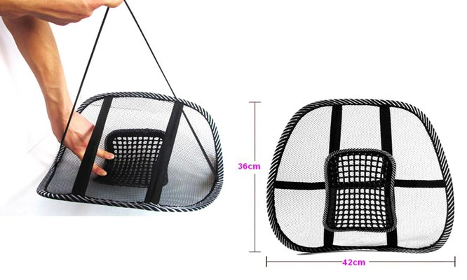 Cojin lumbar relax bolas antiestres con masajeador y elastico